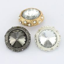 10pcs Crystal Rhinestone Buttons for Sew on Garments,scrapbooking clothing mink coat buttons sewing accessories