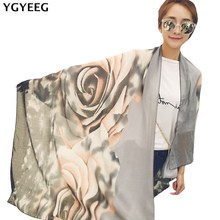 YGYEEG Winter Popular Scarves Large Size Woman Autumn Shawl New Bikini Sarong Red Grey Scarf Female Long Wraps Cover Ups 180*90