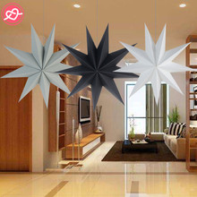 Nine-Pointed Paper Stars Garland Star Decoration Christmas Ornaments Wedding/Birthday/Christmas Party Decoration Supplies(China)