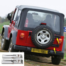 Newest Rear Door Hinge Trim Cover Exterior Mouldings Styling ABS For Jeep Wrangler TJ Year 1997-2006 Free Shipping(China)