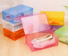 Foldable Organizer Box Bulk lid Storage Boxes Drawer Thick Transparent Colored Plastic Clamshell Shoebox Stackable