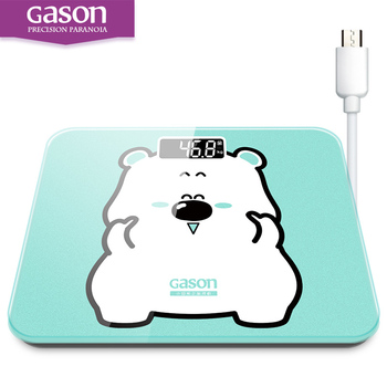 GASON A3s USB Charging Scales LCD Digital Display Weight Weighing Floor Electronic Smart Balance Body Household Bathrooms 180KG