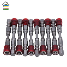 "10PC 65mm PH2 Drywall Precision Screwdriver Bit Strong Magnetic Wall Bits Set Phillips Screw Driver Bit 1/4"" Hex Shank Tools(China)"