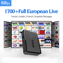 Mag 250 Linux TV Set Top Box HD TV Receiver With IUDTV IPTV Subscription Channels Europe French Arabic Sweden Italy UK IPTV Box
