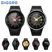 Orignal Sports Round Smart Watch S99 Diggro 3G Wifi GPS 2MP Camera With Speaker Microphone Smartwatch MTK6580 Electronic Watch(China)