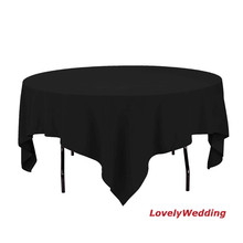 Free shipping high quality 100% polyester table clothes/table cover table linens for wedding party banquet 5pcs/lot size 3x3m(China)