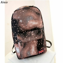 2017 Famous Brand Best Selling Colorful Star Sky Unisex Canvas Backpack Satchel Travel Rucksack School College Backpack Rock(China)