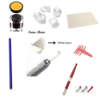 100Pcs 3 Sizes option Plastic Tattoo Makeup Ink/Pigment Cups Eyebrow Tattoo Makeup Pigment Container Caps Disposable Accessories 15