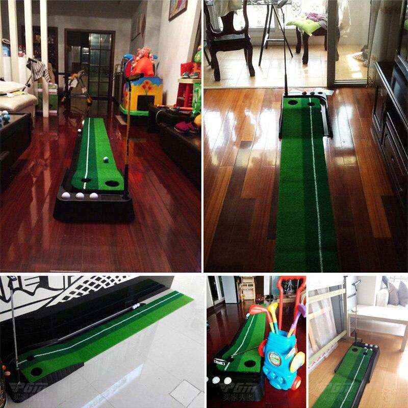 PGM indoor Golf Putter Practice Set Putting Green Trainer Green Mat Automatic Return Fairways Equipment Golf Training Aids (22)