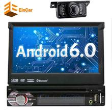 WIFI Qure Core Android 6.0 single din Car auto dvd Player Stereo GPS Navigation Free Camera 1080P TFT/LCD Car FM Radio Receiver