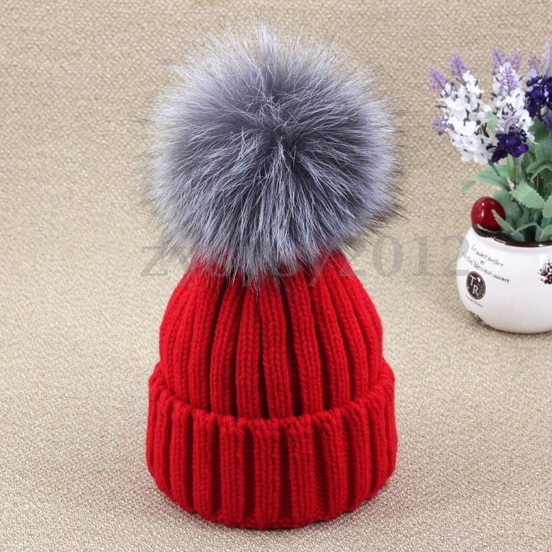 Winter Fox fur ball cap pom poms winter hat for women girls wool hat knittedcotton beanies cap brand new thick female capОдежда и ак�е��уары<br><br><br>Aliexpress