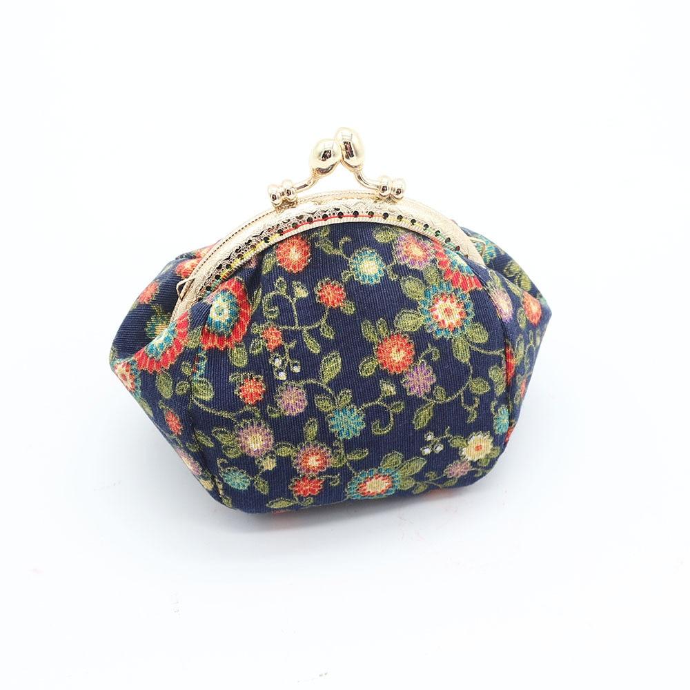 Mini Coin Purse Kiss Lock Girls  Change Purse Hasp Wallet women lady flower bags  (12)