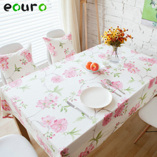 Pink flowers 100% Cotton Table Cloth desk Bedside cabinets cover 140*180/200/160/90*90cm Furniture cover