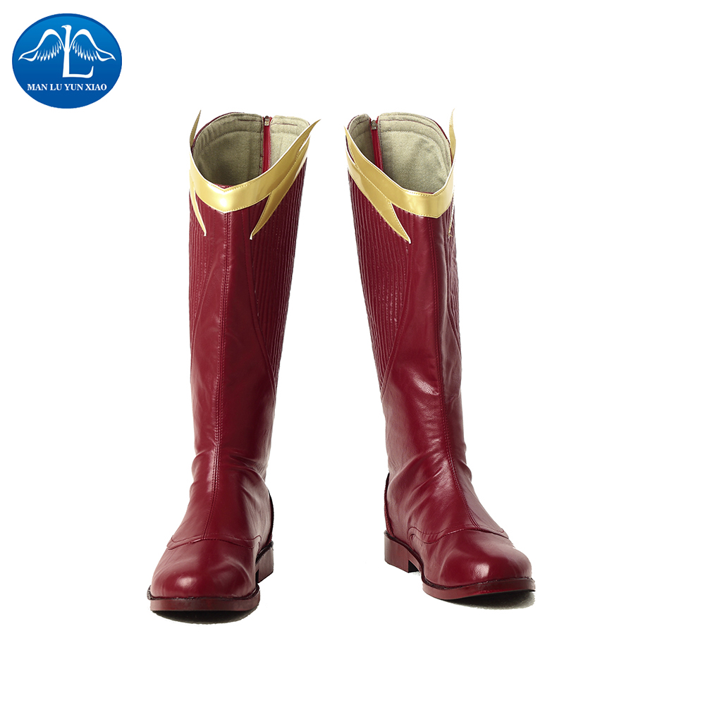 MANLUYUNXIAO New The Flash Season 4 The Flash Boots Halloween Carnival Cosplay Boots For Adult Free Shipping