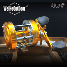Right/Left Hand 40# Fishing Reel Aluminum alloy Saltwater Bait casting Reel Full Metal Carp Drum Wheel 2+1BB Speed Ratio:4.2:1