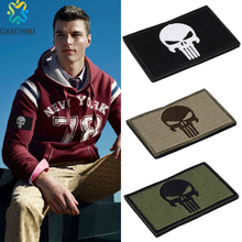 The Punisher / Texas / Red Cross Embroidery 3D Patch Armband Skull Tactical Gear Outdoor Props Badge Patches 8*5cm