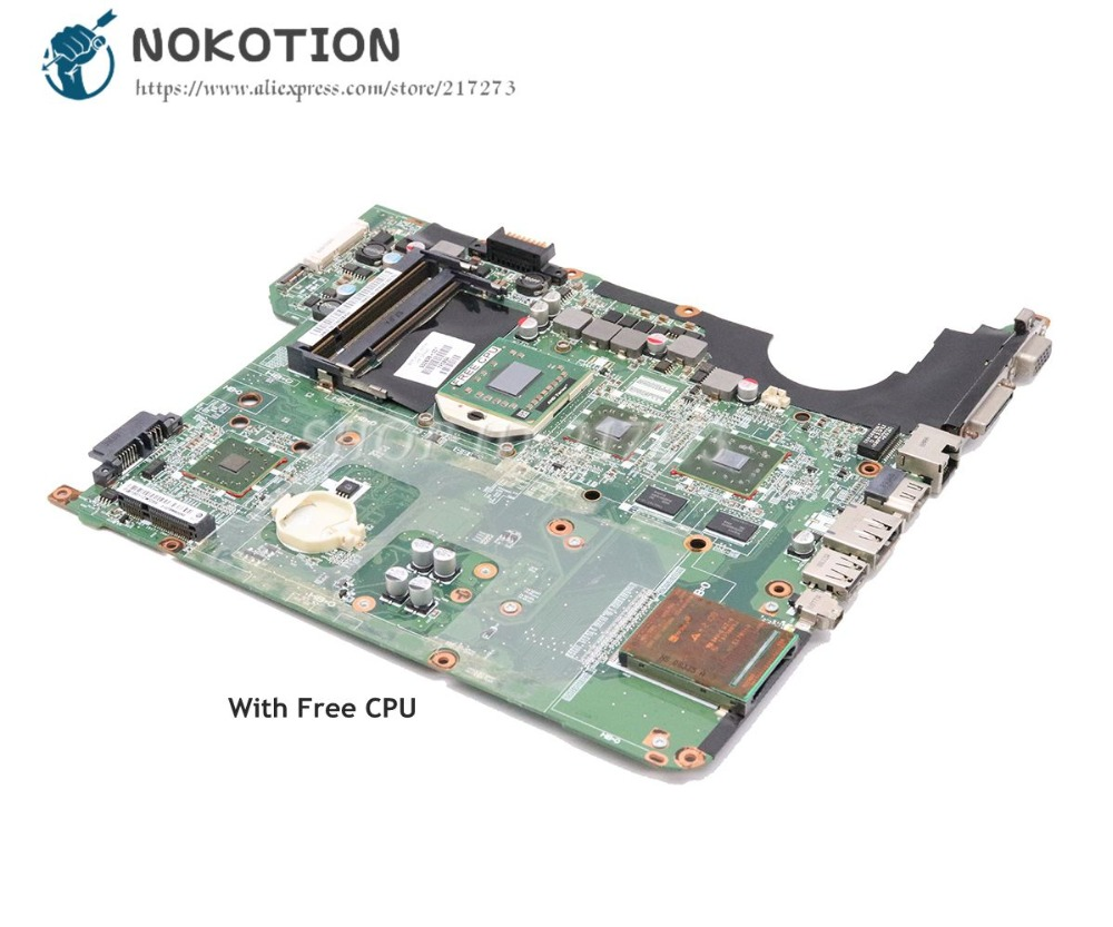 NOKOTION 502638-001 482324-001 For HP Pavilion DV5-1000 DV5 Laptop Motherboard DA0QT8MB6G0 HD3400 GPU DDR2 Free cpu