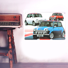 European Retro style English car sign board Wall stickers metal iron crafts pictures Furnishing articles painting draw bar house(China)