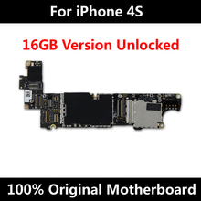16GB Original Mainboard For iPhone 4S 100% Unlocked Official Version Motherboard Good Working Logic Board With Full Chips(China)