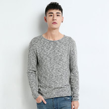 Knitted Sweater For Men Knitting Pullover Men Male Grey Sweater Pure Cotton Man Knit Sweater Fashion Luxury Jumpers Winter