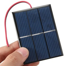 0.65W 1.5V Mini Solar Cell Polycrystalline Solar Panel DIY Solar Charger + 15CM Cable Toy Panel 60*80*3MM Education Study Kits