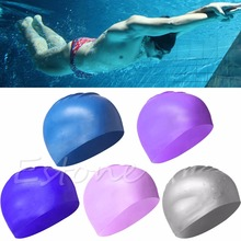 Original Adult Silicone Swim Cap Flexible Durable Swimming Hat Better than(China)