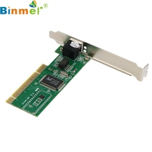 Binmer Hot Sale New 10/100 Mbps NIC RJ45 RTL8139D LAN Network PCI Card Adapter for Computer PC JUL 1117mar23 Drop Ship