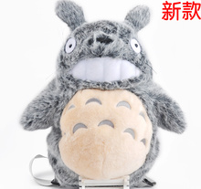 BIG Fluffy Quality Kawaii 50*40CM Plush MY Neighbor TOTORO Plush Backpack Lady Girl's TOTORO Backpack School  Shoulder Pack