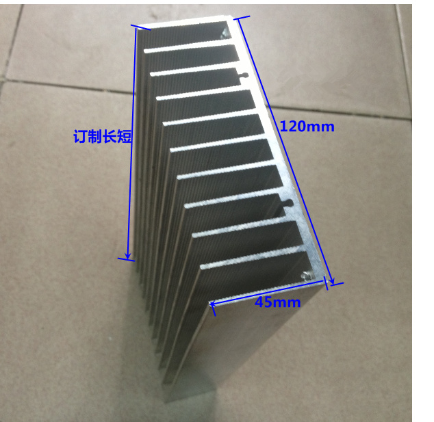 Fast Free Ship Wide 120mm*high 45mm*length 140mm Aluminum Radiator Cooling block 120*45*140mm Electronic Radiator Heatsink<br>