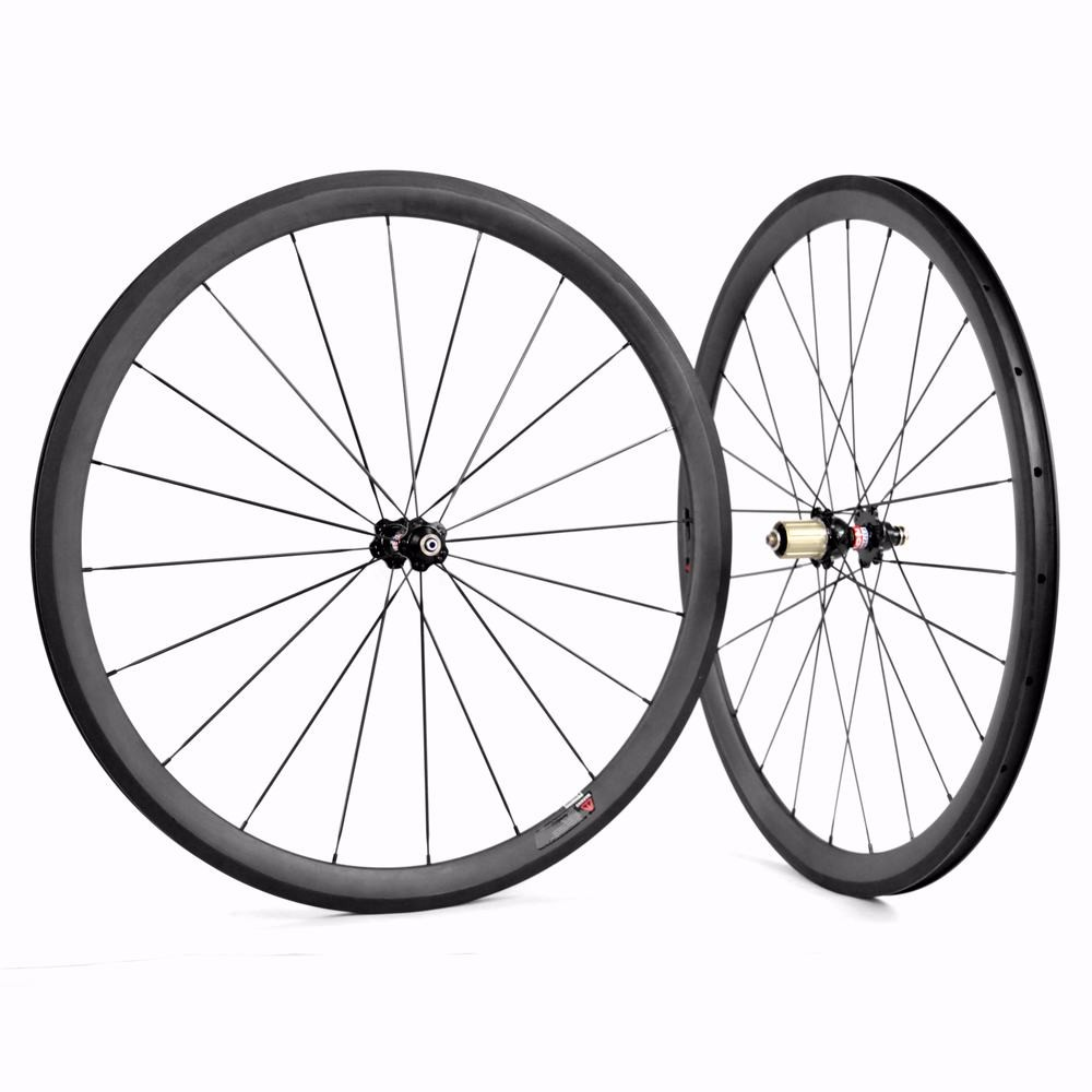 700c 38mm clincher carbon road bike wheelset for Shimano Sram or Campagnolo speed 8 9 10 11