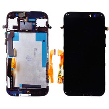 For HTC One M8 LCD Display with Touch Screen Digitizer Assembly Bezel Frame Full Assembly , Free Shipping!!