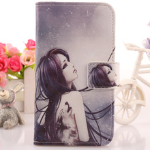 AIYINGE Leather PU Skin Cell Phone Cover Book Design Wallet Pouch & Card Holder Case For Utime Smart PDA S38 U100  u100S