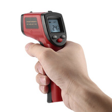 New! GM320 Laser LCD Digital IR Infrared Thermometer Temperature Meter Gun Point -50~380 Degree Non-Contact Thermometer Blue/Red(China)