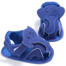 Baby Infant Boys Girls Soft Sole Crib Cute Elephant Sandals Toddler Newborn Sandals Shoes Children Girls Boys Sandals Shoes
