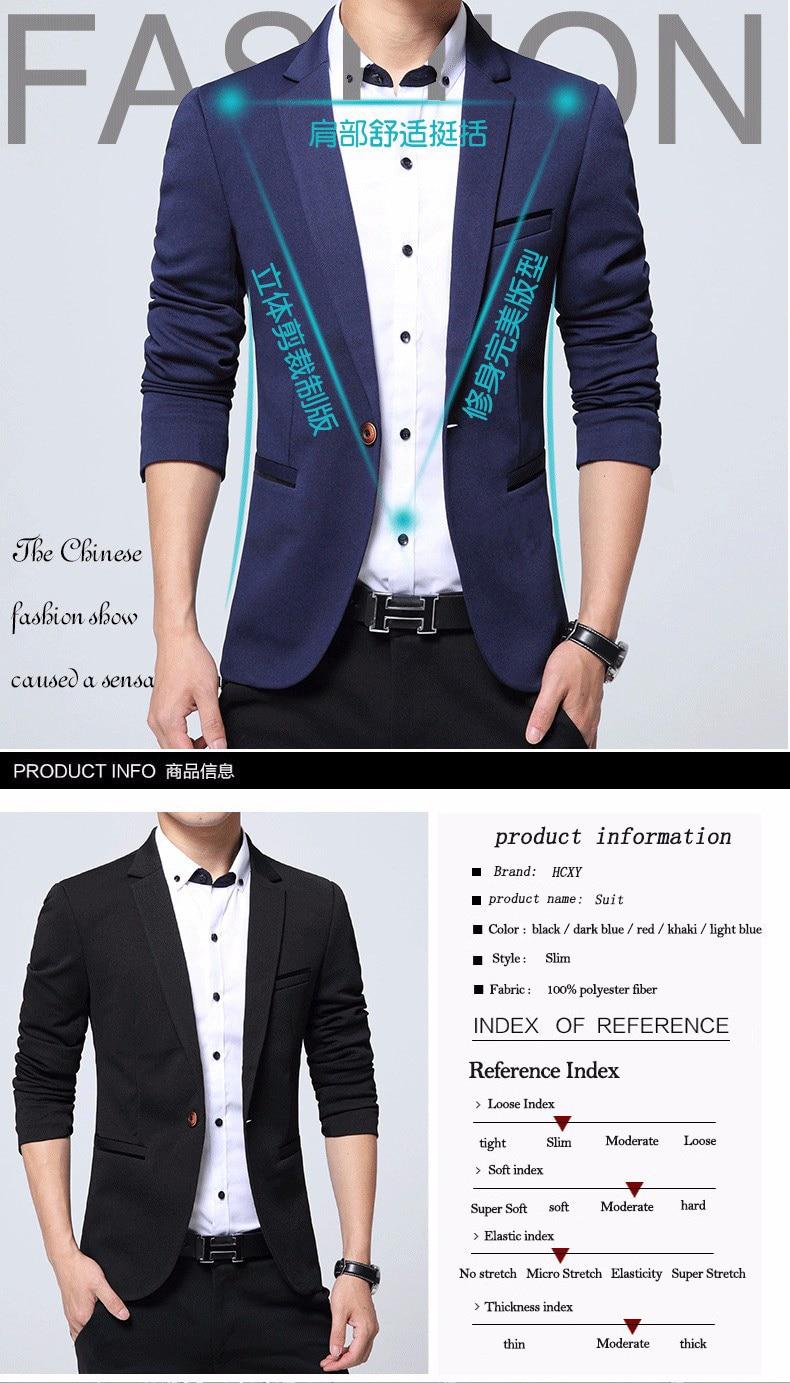 HTB1xu2ARpXXXXcfXpXXq6xXFXXXx - HCXY модные Для мужчин Блейзер Повседневные комплекты одежды Slim Fit пиджак Для мужчин весна костюм Homme, TERNO masculin Блейзер, куртка