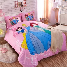 Authentic DISNEY Princess Pink Bedding Set 100% Cotton Keys To The Kingdom Duvet Cover Sheet Set Single Queen Size Kids Beddings