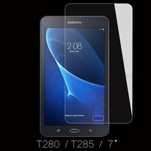 9H Tempered Glass Screen Protector Film for Samsung Galaxy Tab A 7.0 T280 T285 + Alcohol Cloth + Dust Absorber(China)