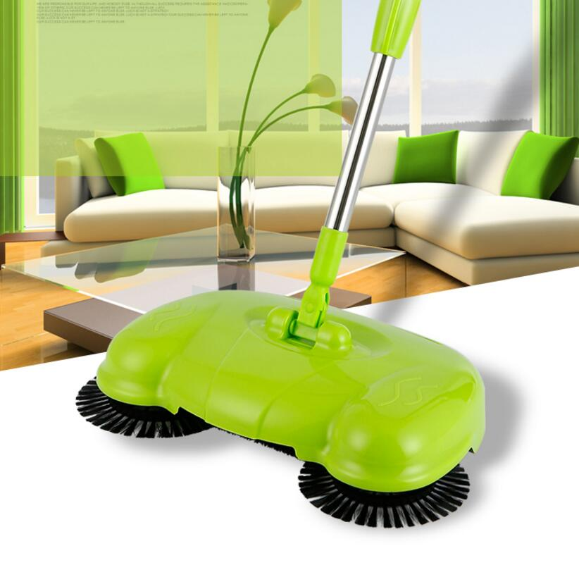 yiJiA Push Sweeper Vacuum Cleaner Household Floor Cleaner Manually  Cleaning Machine Broom no need bend over no electricit<br>