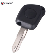 KEYYOU 1 Button Key Remote Car Case Shell Fob For Peugeot 106 205 206 306 405 406 Repair(China)