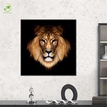 Single Picture Melamine Sponge Board Canvas Oil Painting Frame Art Animal Pictures Lion Face Prints Artwork Room Wall Painting