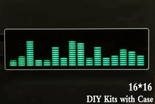 Diy Kits level LED Music Spectrum Analyzer Audio Level Meter MP3 PC Amplifier Audio Indicator Speed Adjustable AGC with Case