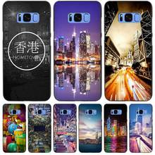 Hong Kong Sunset Skyscraper City Bay Black Case Cover Shell Coque for Samsung Galaxy S3 S4 S5 Mini S6 S7 S8 Edge Plus S8+