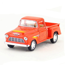 1:32 Kinsmart Die cast Model Car Toy Alloy Flame Version Truck Cars Simulation Vehicle Dinky Toys For Children Juguetes Van Gift