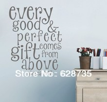 ebay hot sell free shipping,Bible verses every Good&Perfect gift comes from above - james wall Vinyl quote Stickers q0207