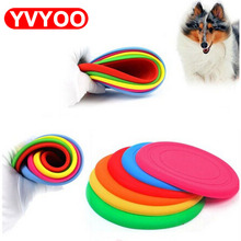 1Pcs Dog Silicone Frisbee pet Dog Toy training supplies Flying Discs Resistant to bite can be folded pet supplies(China)