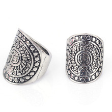 2017 New vintage aneis Korean Imitation 925 Tibetan silver Ring men's ring Europe sell well selling Bohemia rings for women R930(China)