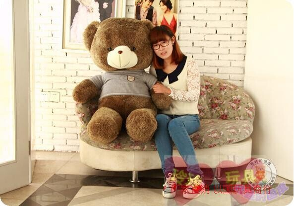 about 100cm teddy bear plush toy brown bear doll, Christmas gift t6901<br>