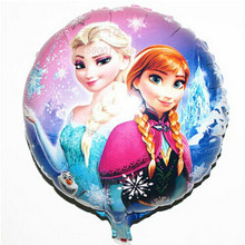 Cheap 18 Inch Wedding Decoration Cartoon Foil Inflatable Balloons Birthday Party Decorations House Ornament Kids toys ball(China)