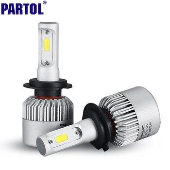 2x Plug & Play COB H7 LED Phare 72 W 8000LM Tout En Un voiture LED Phares Ampoule Lampe de Tête Léger Brouillard 12 V Auto Remplacement pièces