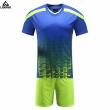 16/17 New Survetement Football Training Suit Soccer Jerseys Set Maillot De Foot Futbol Shirt Short Tracksuit Blank DIY Customize(China)